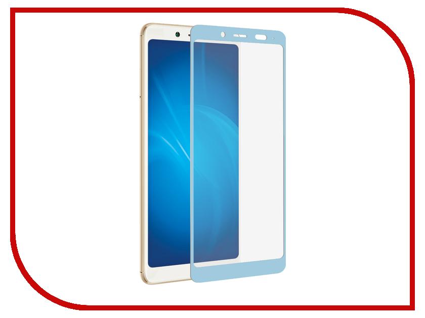 Аксессуар Закаленное стекло Xiaomi Redmi Note 5 Pro DF Fullscreen xiColor-26 Blue