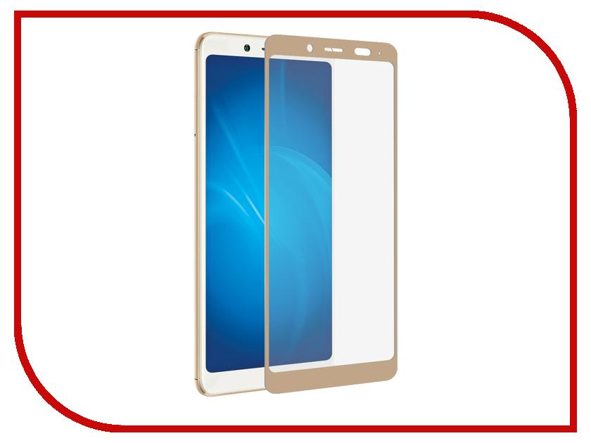 Аксессуар Закаленное стекло для Xiaomi Redmi Note 5 Pro DF Fullscreen xiColor-26 Gold аксессуар закаленное стекло xiaomi redmi note 5a df full screen xicolor 17 gold