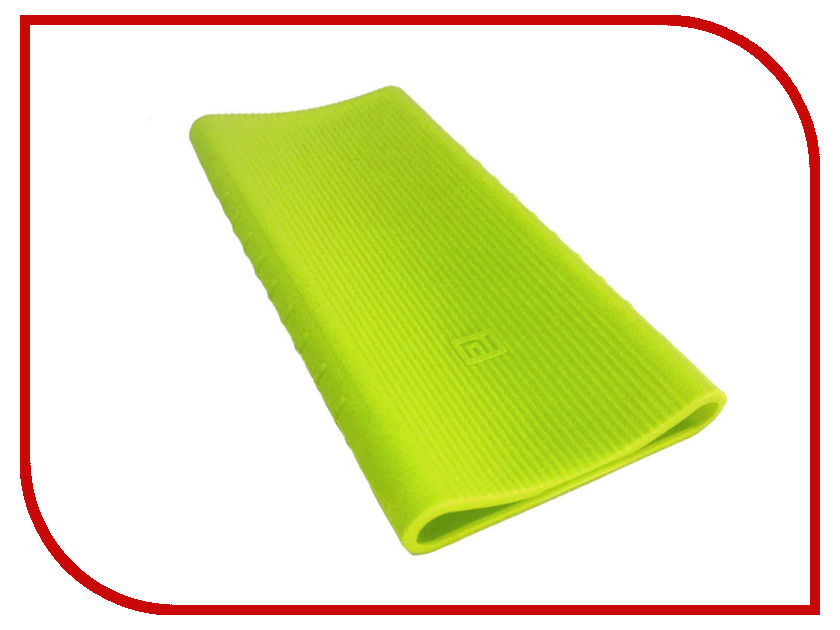 Аксессуар Чехол Xiaomi Silicone Case for Mi Power Bank 2 PLM09ZM 10000mAh 2xUSB Green