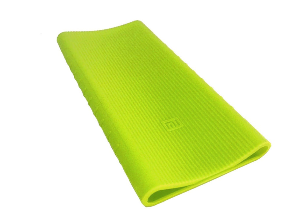 Чехол Xiaomi Silicone Case for Mi Power Bank 2 PLM09ZM 10000mAh 2xUSB Green