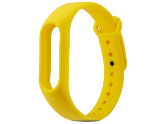 Aксессуар Ремешок Activ for Xiaomi Mi Band Silicone Yellow 83774 fashion stainless steel case silicone band quartz analog wrist watch for men black yellow