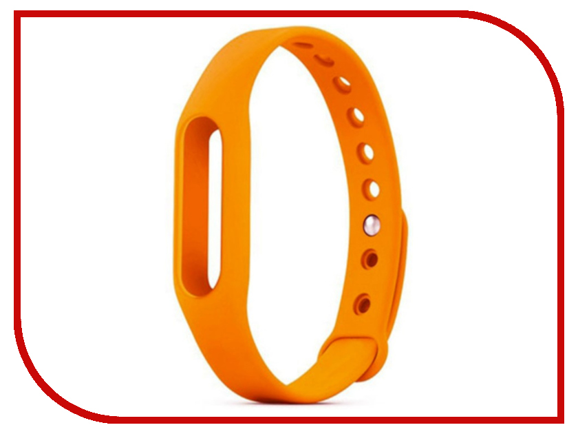 Aксессуар Ремешок Activ for Xiaomi Mi Band Silicone Orange 83773