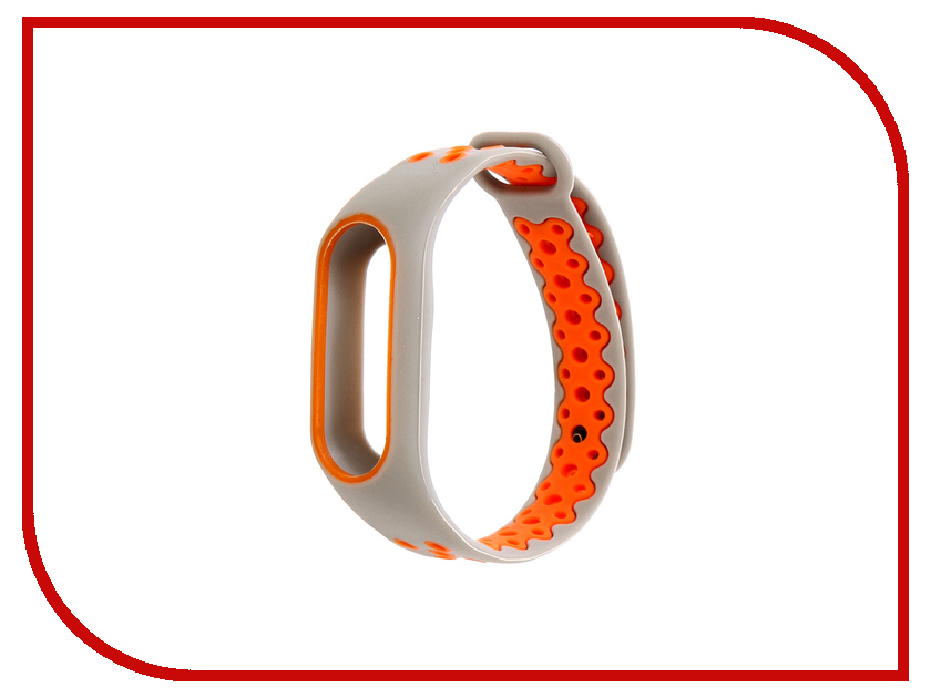 Aксессуар Ремешок Activ for Xiaomi Mi Band 2 Sport N Silicone Grey-Orange 83783 genius first h3106 fashion silicone band quartz wrist watch silver grey