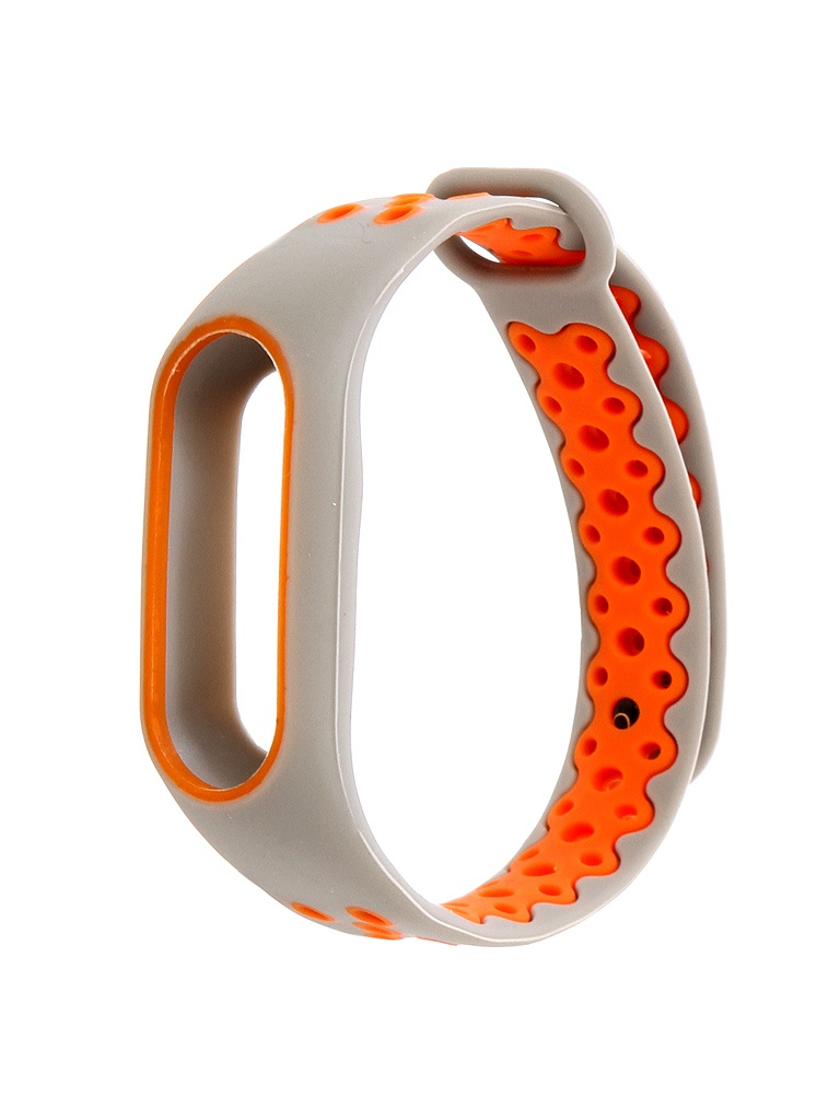 Aксессуар Ремешок Activ for Xiaomi Mi Band 2 Sport N Silicone Grey-Orange 83783