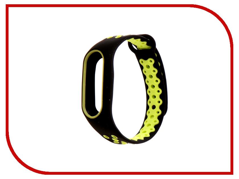 Aксессуар Ремешок Activ for Xiaomi Mi Band 2 Sport N Silicone Black-Green 83784