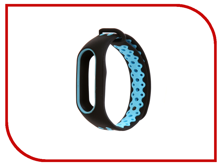 Aксессуар Ремешок Activ for Xiaomi Mi Band 2 Sport N Silicone Black-Blue 83780 2pcs 30f124 gt30f124