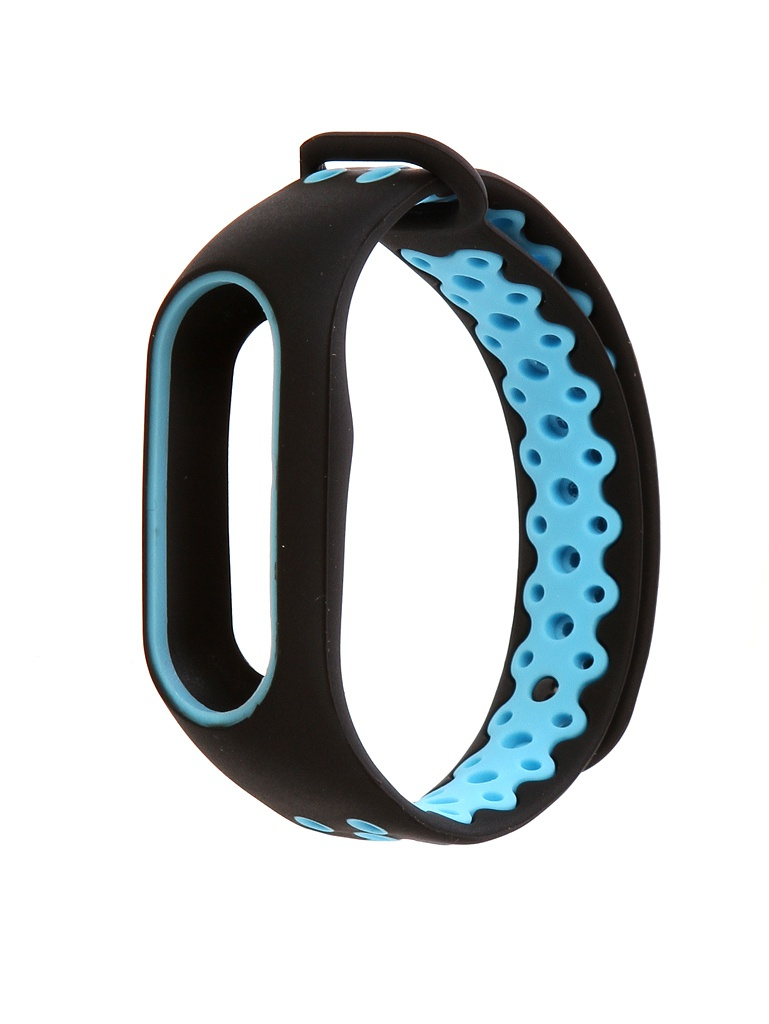 Aксессуар Ремешок Activ for Xiaomi Mi Band 2 Sport N Silicone Black-Blue 83780 hot sale wrist band replacement soft silicone bracelet sport strap wristband accessory for garmin vivosmart drop shipping 3 2