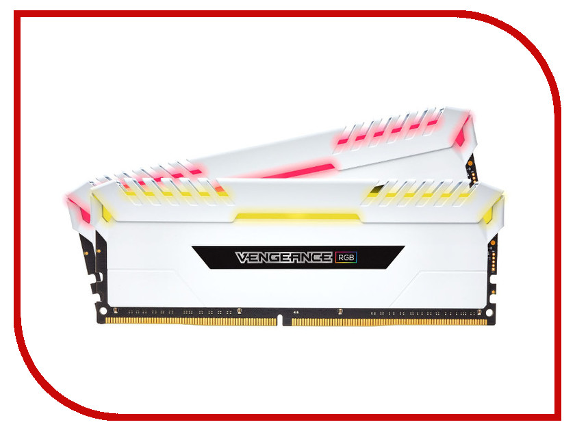 Модуль памяти Corsair Vengeance RGB DDR4 DIMM 3600MHz PC4-28800 CL18 - 16Gb KIT (2x8Gb) CMR16GX4M2C3600C18W dimm ddr4 32гб 2x16гб corsair vengeance led white cmu32gx4m2c3000c15