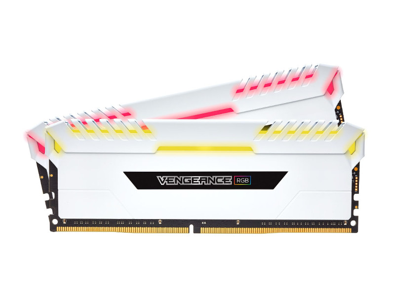 где купить Модуль памяти Corsair Vengeance RGB DDR4 DIMM 3600MHz PC4-28800 CL18 - 16Gb KIT (2x8Gb) CMR16GX4M2C3600C18W дешево