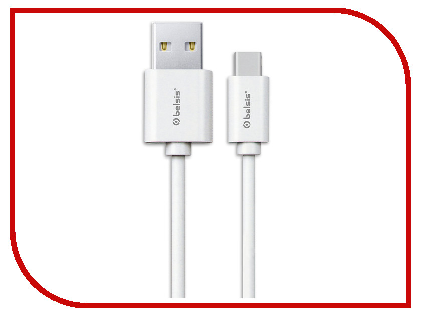 Аксессуар Belsis USB 2.0 A - USB Type-C 95cm White BS3016 50pcs micro usb 3 0 male to usb c usb 3 1 type c female extension data cable for macbook tablet 10cm by fedex