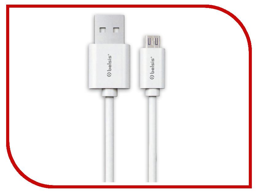 Аксессуар Belsis USB 2.0 A - MicroUSB 95cm White BS3013 аксессуар belsis 4rca 4rca rem gold 5m bw4048
