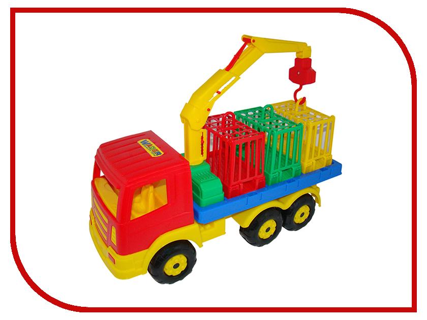 Игрушка Полесье Автомобиль для перевозки зверей Престиж 44204 конструктор bela автомобиль для перевозки заключённых 60043 10418