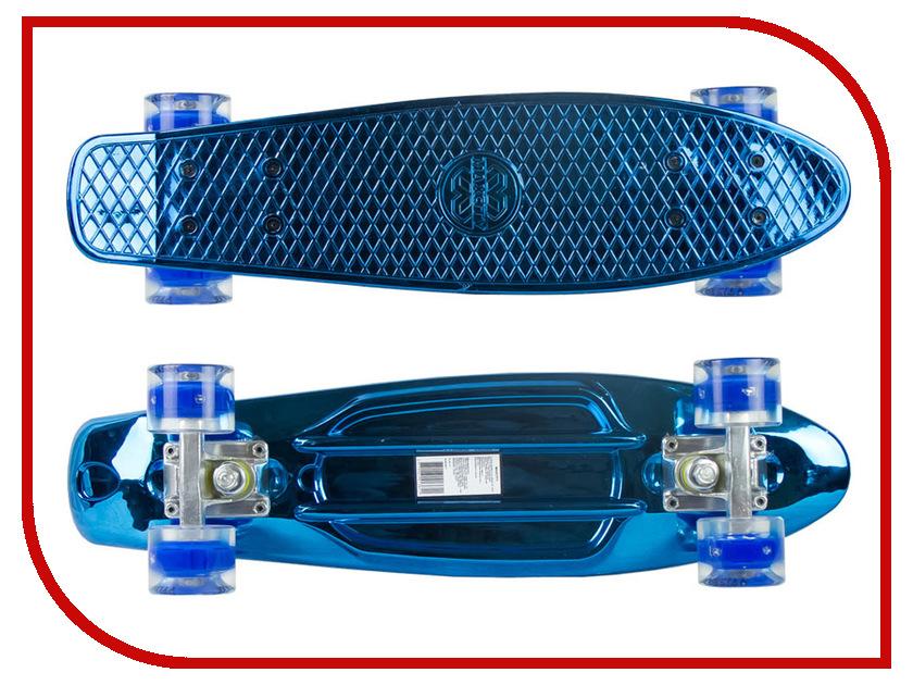 Скейт Maxcity MC Plastic Board Metallic Small Blue