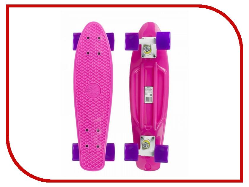 Фото - Скейт Maxcity MC Plastic Board Gloss Small Pink скейтборд maxcity mc king kong