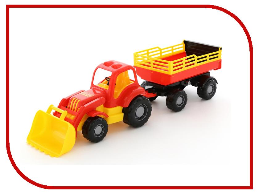 Игрушка Полесье Трактор с прицепом и ковшом Силач 45034 игрушка siku трактор с ковшом 9 7 7 8 3 6см 1356