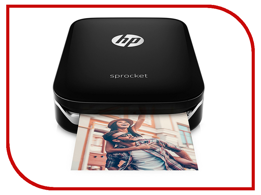 Принтер HP Sprocket Photo Printer Black Z3Z92A принтер hp sprocket photo printer white z3z91a