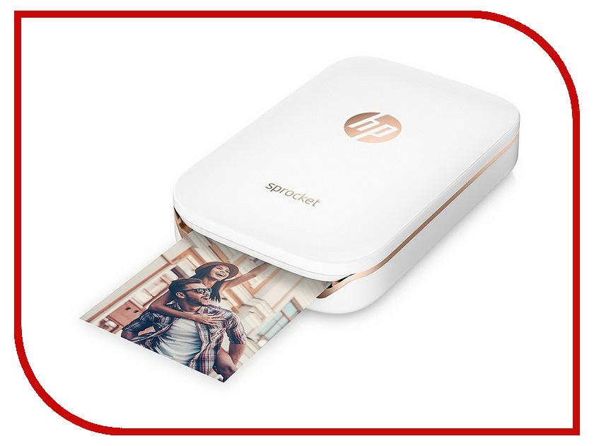 Принтер HP Sprocket Photo Printer White Z3Z91A stylish wooden dual layer photo frame for 7 5 photo white