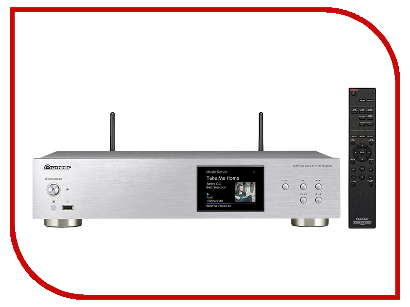 Сетевой аудио проигрыватель Pioneer N-30 Silver медиаплеер pioneer n 30ae s n 30ae s