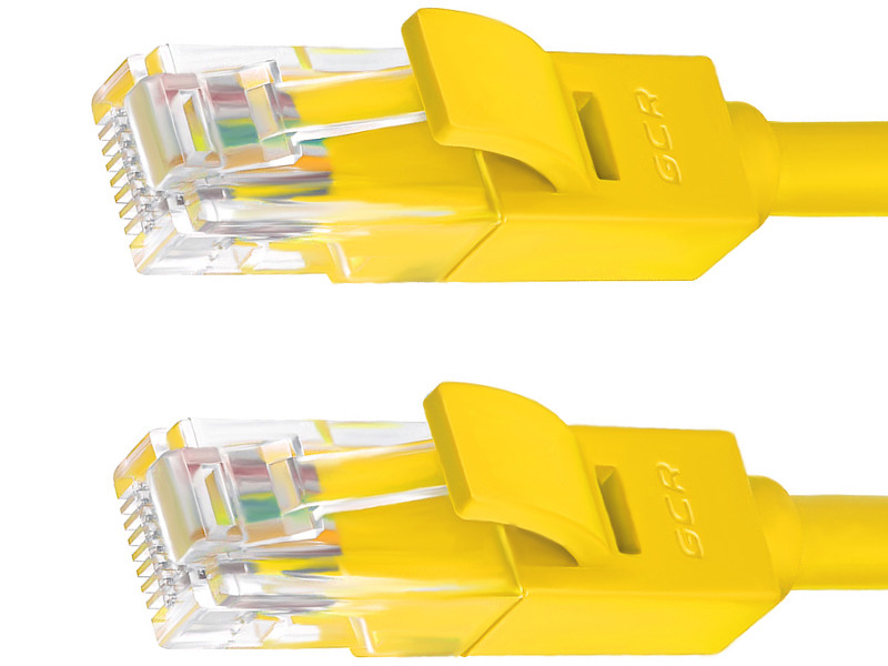 Сетевой кабель Greenconnect UTP 24AWG cat.5e RJ45 T568B 3m Yellow GCR-50704