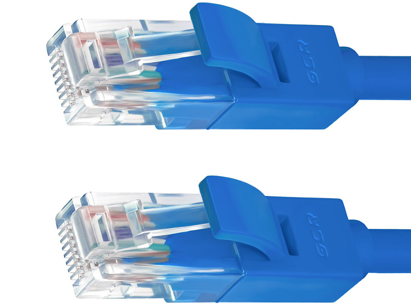 Сетевой кабель Greenconnect UTP 24AWG cat.5e RJ45 T568B 5m Blue GCR-50682