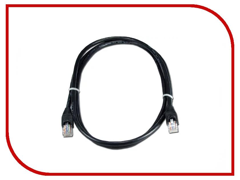 Сетевой кабель Greenconnect UTP 24AWG cat.5e RJ45 T568B 1m Black GCR-50674 сетевой кабель greenconnect utp 24awg cat 5e rj45 t568b 2m black gcr 50675