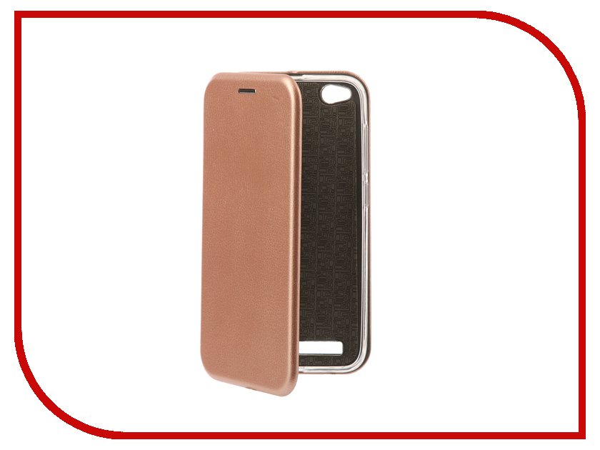 Аксессуар Чехол-книга для Xiaomi Redmi 5A Innovation Book Silicone Rose Gold 11444
