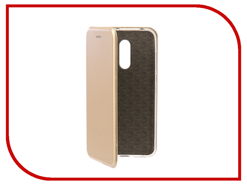 Аксессуар Чехол-книга для Xiaomi Redmi 5 Plus / Redmi Note 5 Innovation Book Silicone Gold 11448 leaf style magnetic leather case for xiaomi redmi 5 plus with holder