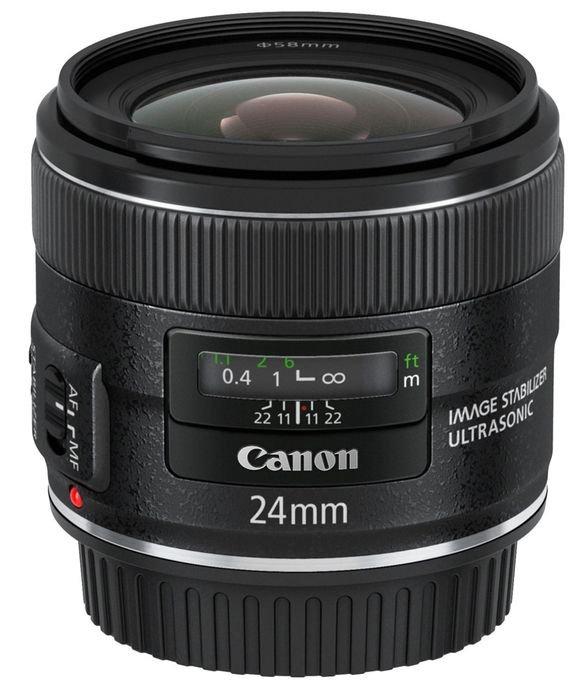Объектив Canon EF 24 mm F/2.8 IS USM объектив canon ef 180mm f 3 5l macro usm