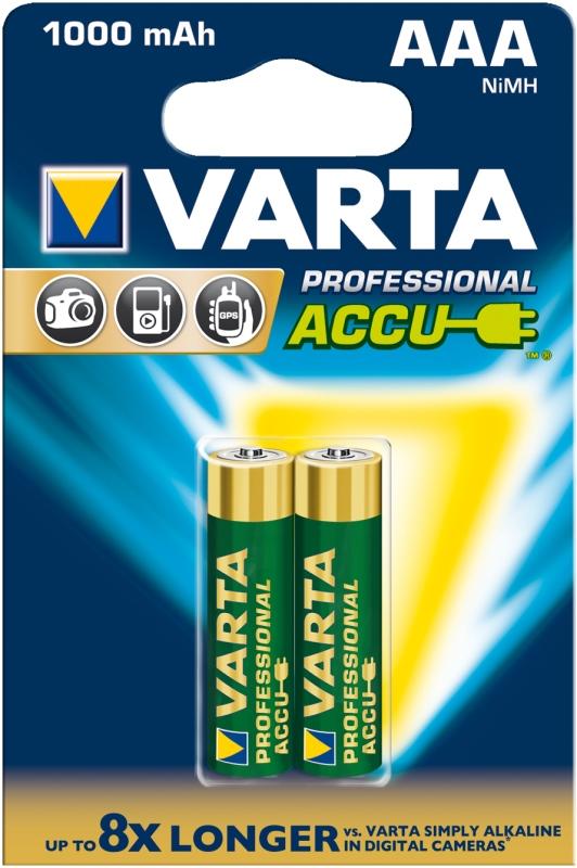 Аккумулятор AAA - Varta 1000mAh BL2 Professional (2 штуки) 5703