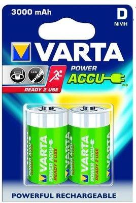 Аккумулятор D - Varta 3000mAh Power Accu (2 штуки) 56720