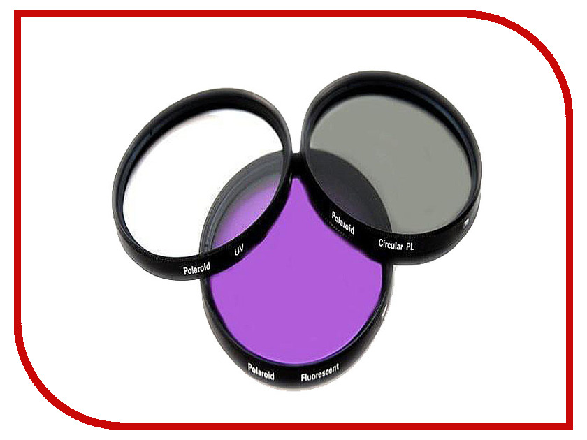 Светофильтр Polaroid UV-CPL-FLD 52mm - набор фильтров PL3FIL52<br>