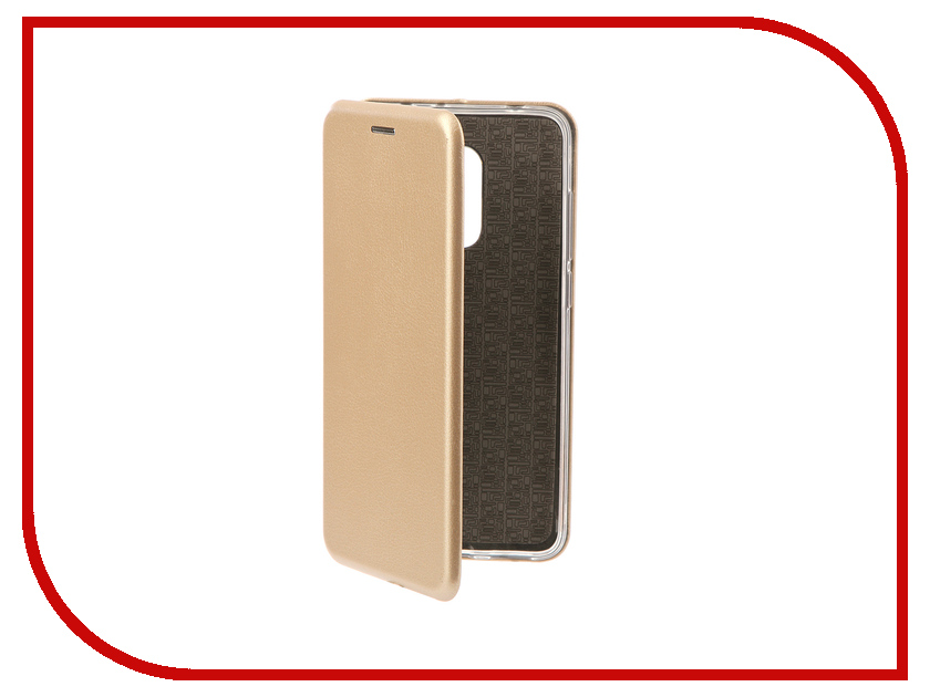 Аксессуар Чехол-книга для Xiaomi Redmi 5 Innovation Book Silicone Gold 11452