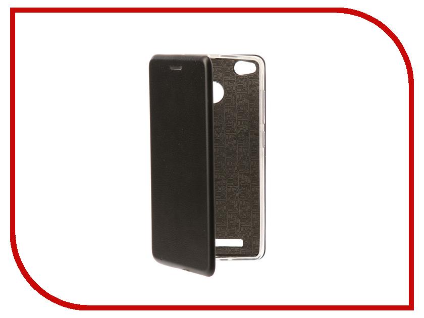 Аксессуар Чехол-книга для Xiaomi Redmi 3S Innovation Book Silicone Black 11453 аксессуар чехол xiaomi redmi 3s caseguru коллекция спорт рис 2 89898