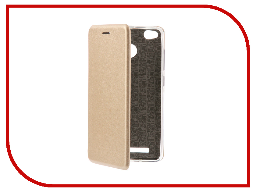 Аксессуар Чехол-книга для Xiaomi Redmi 3S Innovation Book Silicone Gold 11454 lcd display screen touch digitier with frame for xiaomi redmi 3 hongmi redmi 3s redmi 3 pro black white gold free shipping