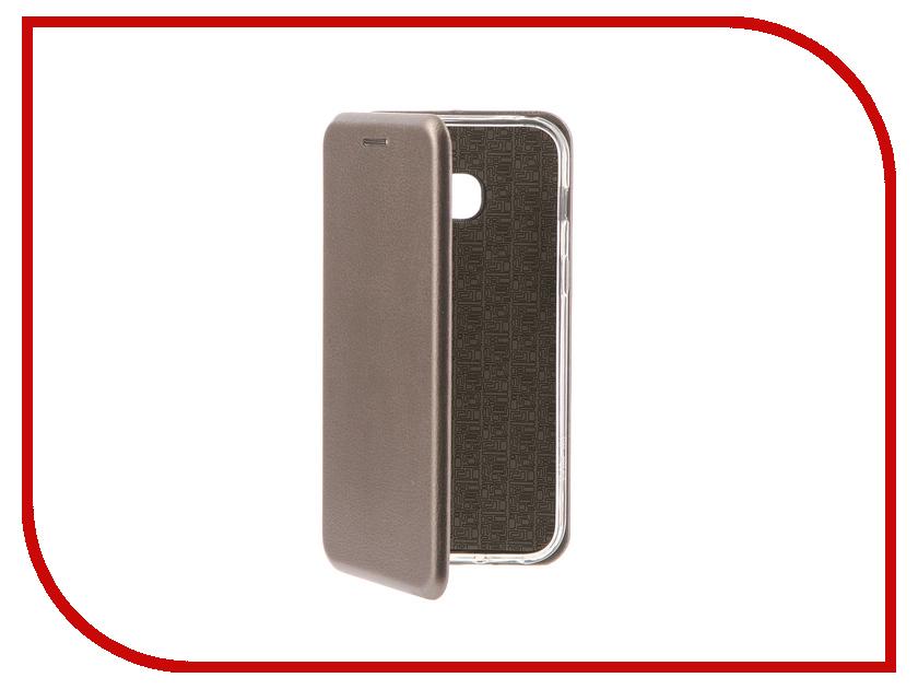 Аксессуар Чехол-книга Samsung Galaxy A3 2017 Innovation Book Silicone Silver 11465 аксессуар чехол samsung galaxy a3 2017 cojess tpu 0 3mm transparent