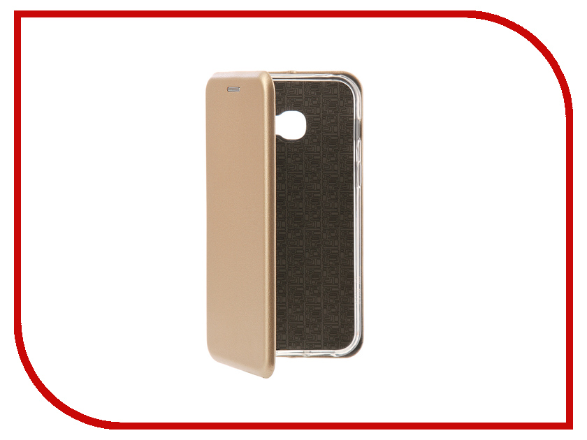 Аксессуар Чехол-книга Samsung Galaxy A3 2017 Innovation Book Silicone Gold 11466 аксессуар чехол samsung galaxy a7 2017 with love moscow silicone russia 5090