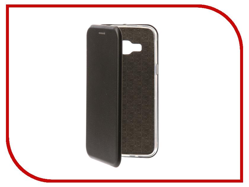 Аксессуар Чехол-книга Samsung Galaxy J3 2016 J310F Innovation Book Silicone Black 11468 аксессуар чехол samsung galaxy j3 2017 cojess tpu 0 3mm transparent