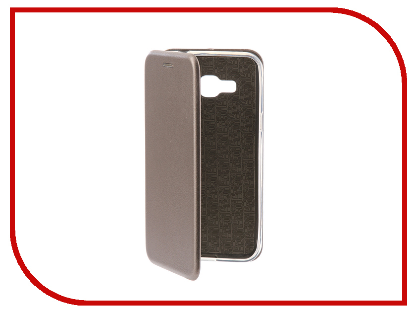 Аксессуар Чехол-книга для Samsung Galaxy J3 2016 J310F Innovation Book Silicone Silver 11469 аксессуар чехол samsung galaxy j3 2017 cojess tpu 0 3mm transparent