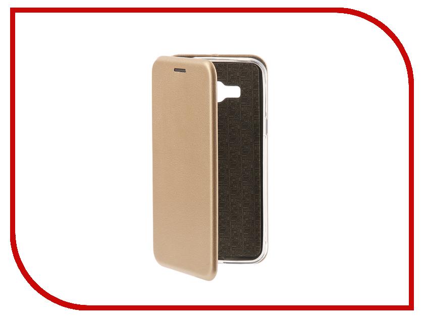 Аксессуар Чехол-книга для Samsung Galaxy J3 2016 J310F Innovation Book Silicone Gold 11471 аксессуар чехол samsung galaxy j3 2017 cojess tpu 0 3mm transparent