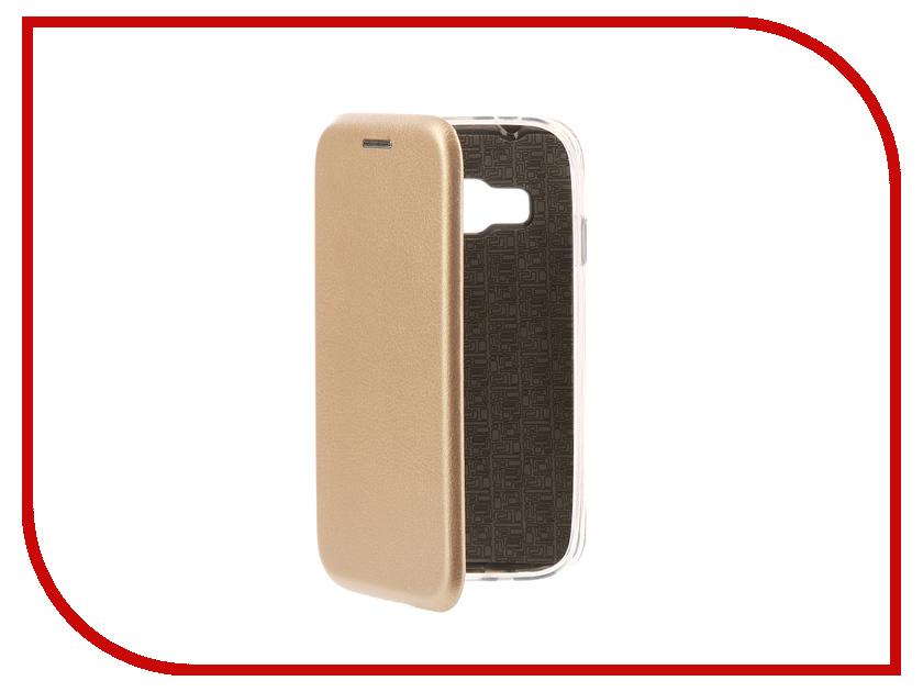 Аксессуар Чехол-книга Samsung Galaxy J1 Mini Prime Innovation Book Silicone Gold 11479