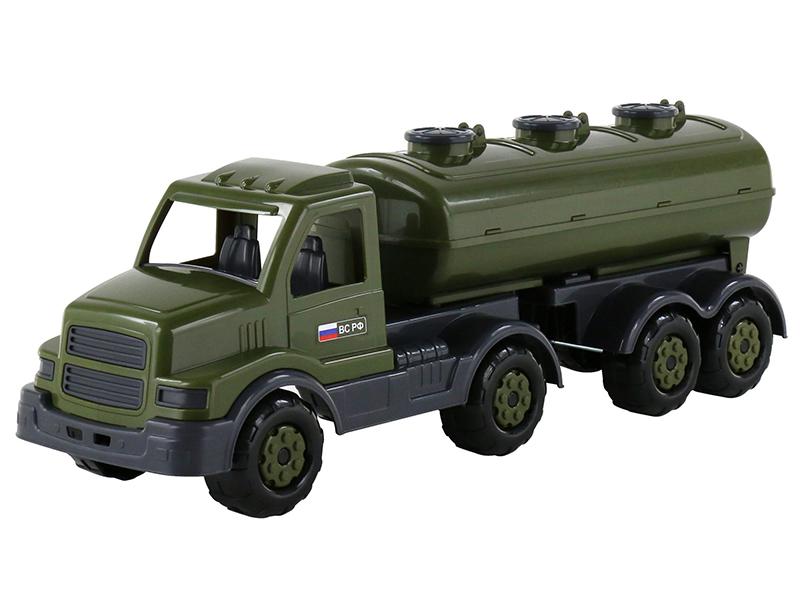 Игрушка Полесье Автомобиль военный с полуприцепом-цистерной Сталкер 48660 военный автомобиль на радиоуправлении tongde в72398 пластик от 3 лет зелёный