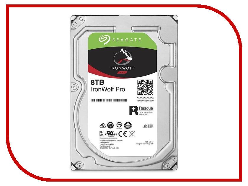 Жесткий диск 8Tb - Seagate IronWolf Pro ST8000NE0004 жесткий диск 12tb seagate ironwolf pro st12000ne0007