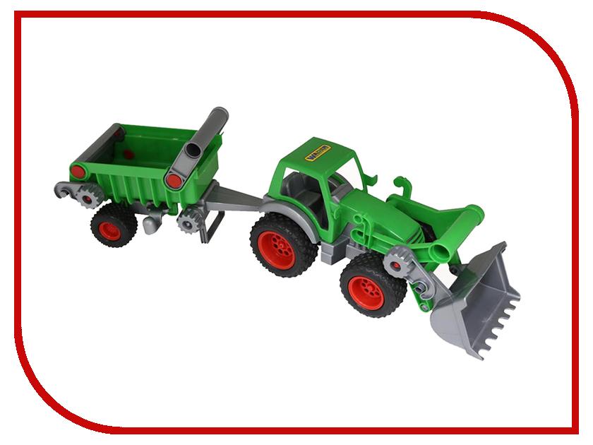 Игрушка Полесье Трактор-погрузчик с полуприцепом Фермер-техник 37756