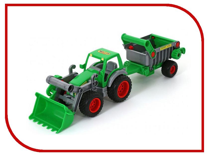 Игрушка Полесье Трактор-погрузчик с полуприцепом Фермер-техник 8718 полесье трактор погрузчик в сеточке
