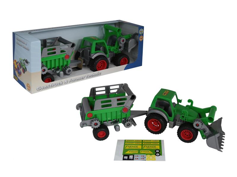 Игрушка Полесье Трактор-погрузчик с полуприцепом №2 Фермер-техник 46505 полесье трактор погрузчик в сеточке