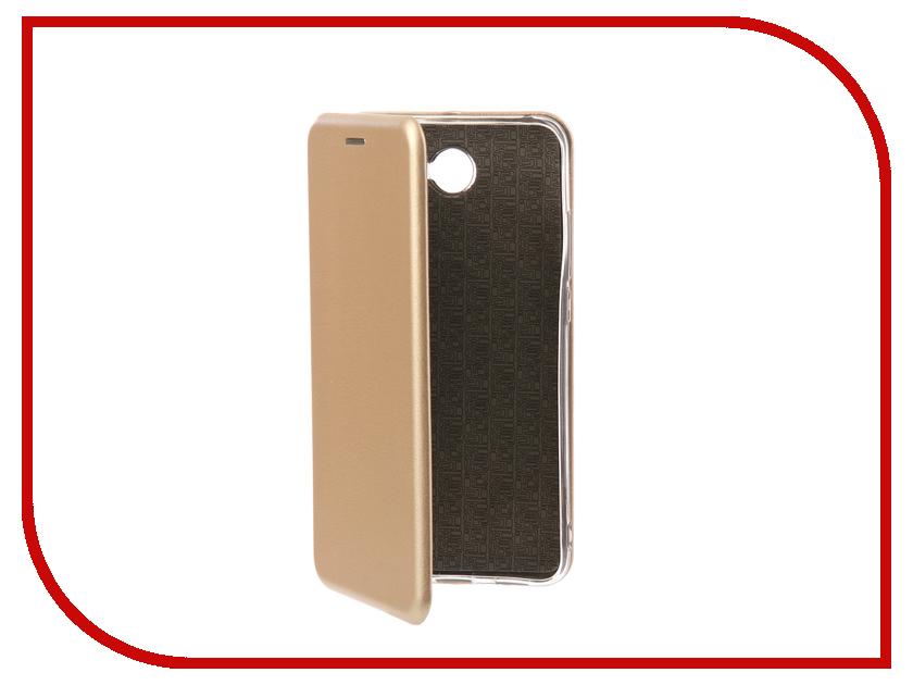 Аксессуар Чехол-книга для Huawei Y7 2017 Innovation Book Silicone Gold 11500 аксессуар чехол книга для huawei y5 2017 innovation book silicone rose gold 11505