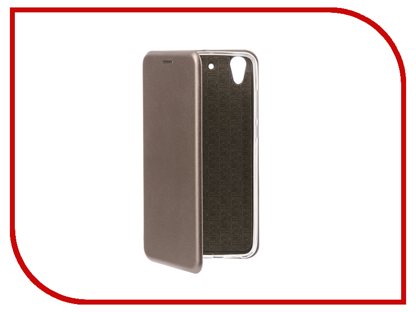 Аксессуар Чехол-книга Huawei Y6 II Innovation Book Silicone Silver 11501 смартфон huawei y6 pro золотой