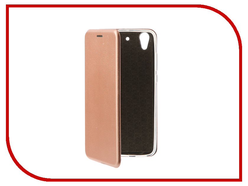 Аксессуар Чехол-книга Huawei Y6 II Innovation Book Silicone Rose Gold 11502 смартфон huawei y6 pro золотой