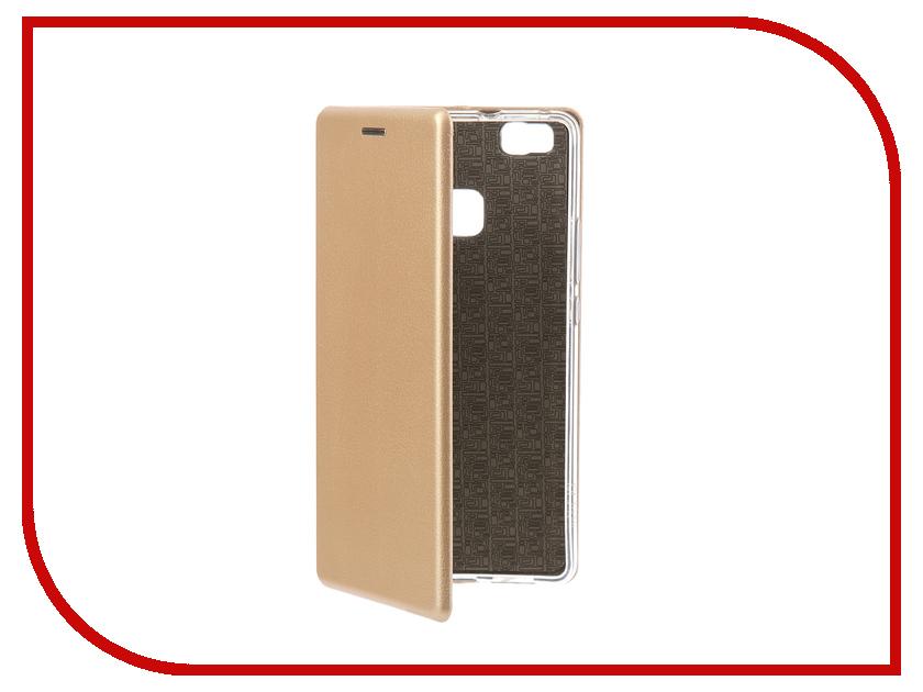Аксессуар Чехол-книга Huawei P9 Lite Innovation Book Silicone Gold 11510 смартфон huawei p9 lite 16gb gold