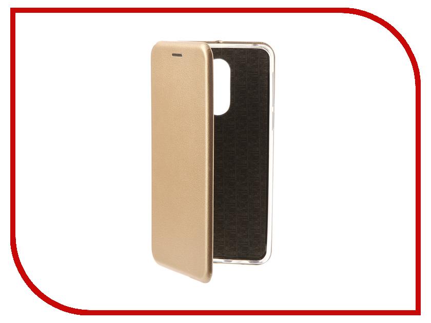 Аксессуар Чехол-книга для Huawei Honor 6X Innovation Book Silicone Gold 11522